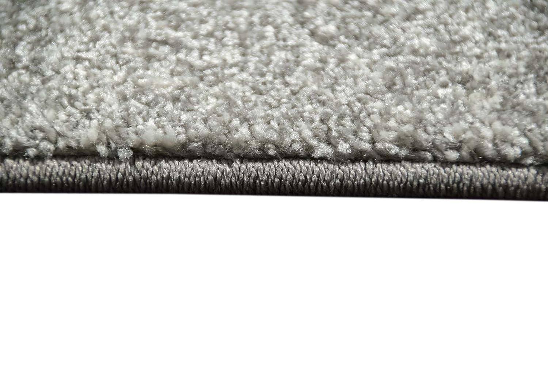 Designer Teppich Teppich Teppich Moderner Teppich Wohnzimmer Teppich Velours Kurzflor Teppich mit Winchester Bordüre in Grau Creme Größe 200 x 290 cm B00IU22U30 Teppiche 033670