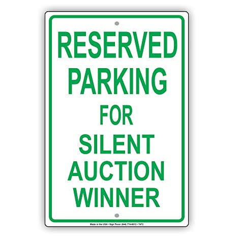 Amazon.com: Parking reservado para Silent Subasta ganador ...