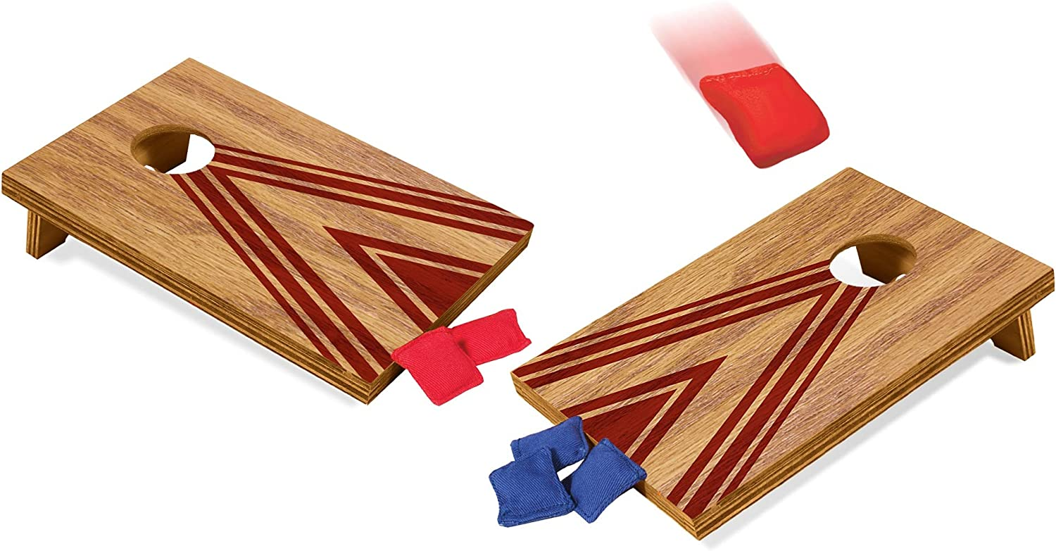 Schylling Table Top Corn Hole Game, Brown, (Model: TCH)