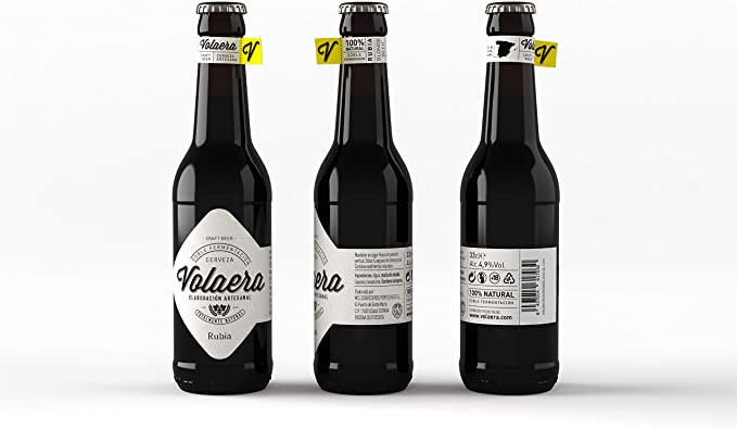 Rubia. Cerveza Artesana Volaera. Pack 12 botellines 33cl. PALE ALE ...