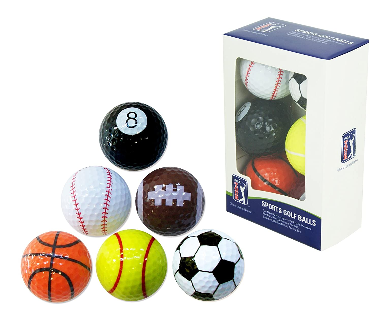 pga tour novelty fun sports golf balls set of 6 amazon co uk