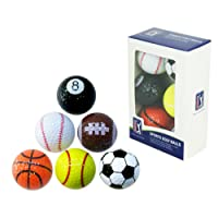 PGA Tour Novelty Fun Sports Golf Balls (Set of 6)