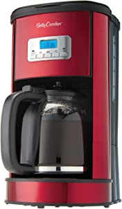 Betty Crocker WACBC3736CMR 12-Cup Coffee Maker, One Size, Red