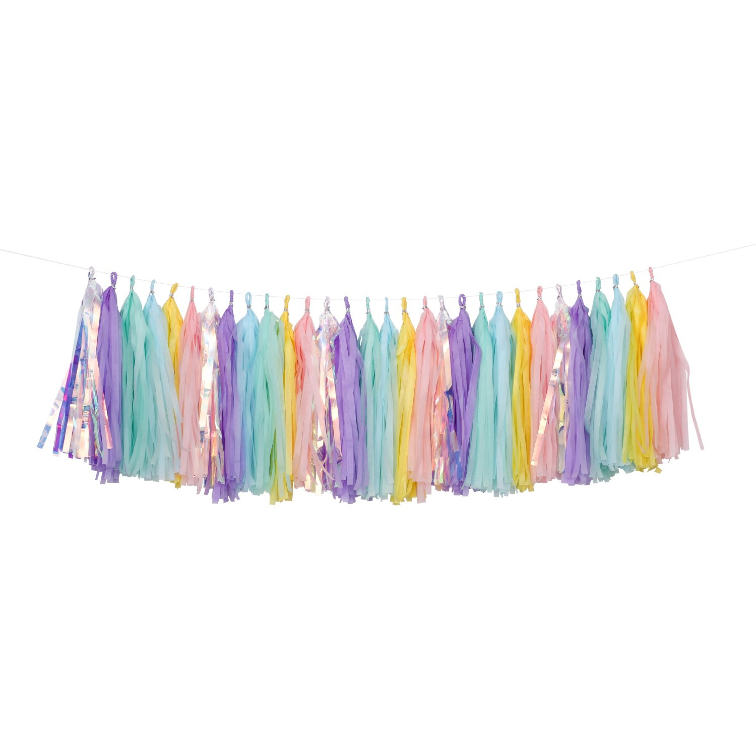 Fonder Mols 30pcs Rainbow Unicorn Tissue Tassel Garland DIY Kit Soft Pink Pastel Ombre Tissue Tassel Banner Modern Girls Room Birthday Party Wedding Shower Nursery Decor A29 4336867224
