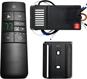 Universal Thermostatic Ceiling Fan Remote Control Kit with Holder, Replacement of Hampton Bay, Hunter, Home Decorators Collection, Honeywell, 3-Speed, Timer, Light Dimmer, HD3-AC8.3.T Kit with Holder