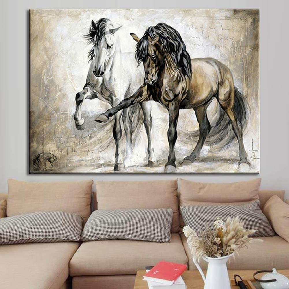 Kitchen Dining Wall Decor Horse And Wine Vertical Poster Bar Wall Art Wine Lover Gift Home Decor Horse Poster