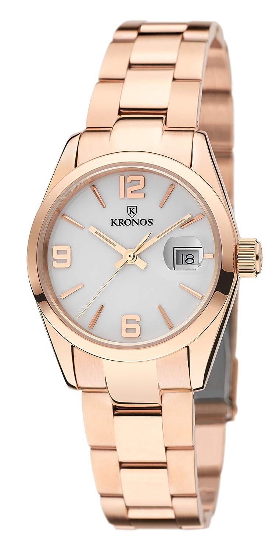 Kronos - Elegance Ladies Rose 983.7.33 -Reloj de señora de Cuarzo, Brazalete de Acero, Color Esfera: Blanca: Amazon.es: Relojes