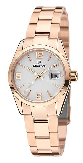 Kronos - Elegance Ladies Rose 983.7.33 -Reloj de señora de Cuarzo, Brazalete