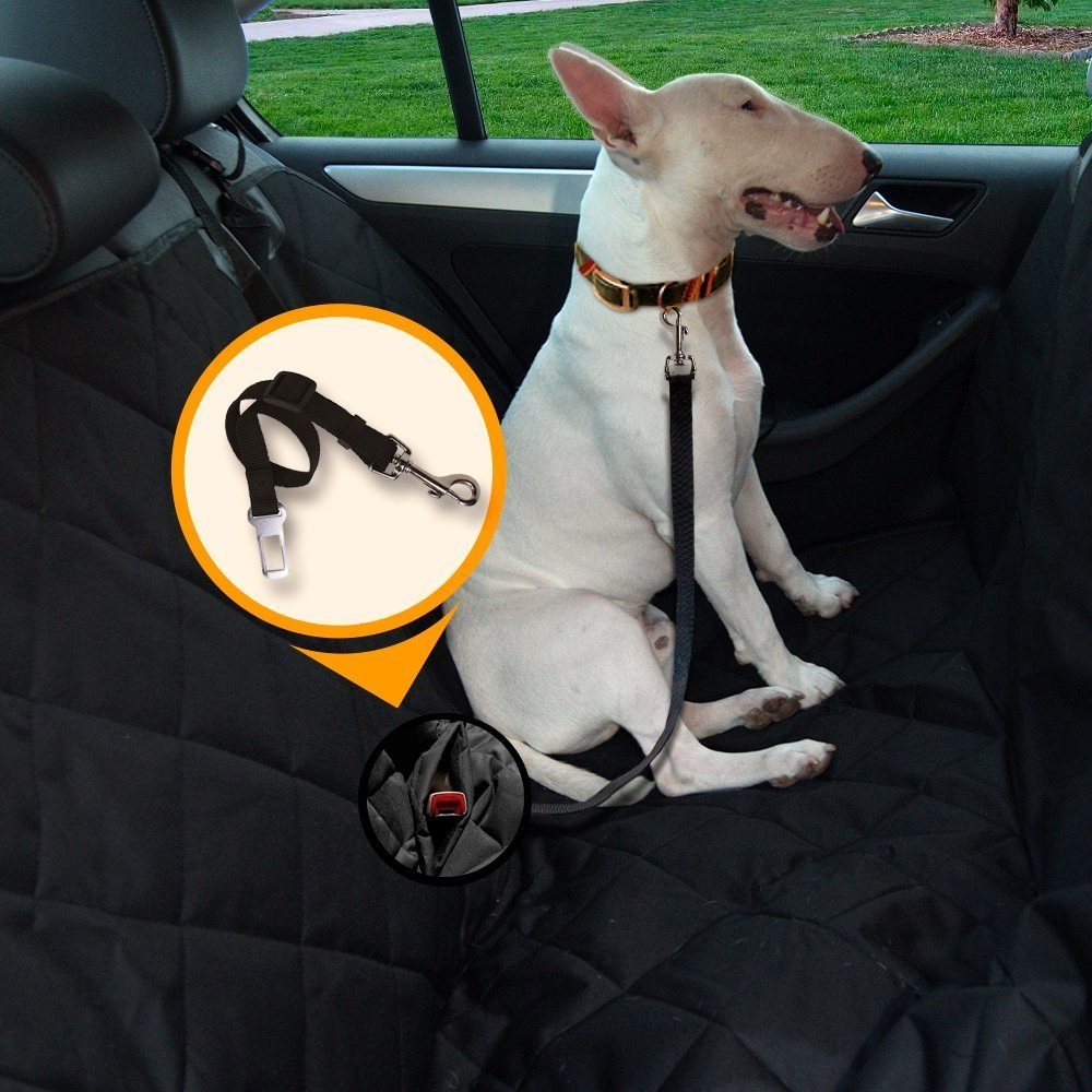 Best Dog Seat Belt >> Car Seat Cover With Velcro Closure For Seat Belt Buckles Full Length Pet Seat Cover For Cars Suv And Trucks Heavy Duty Waterproof Material Anti