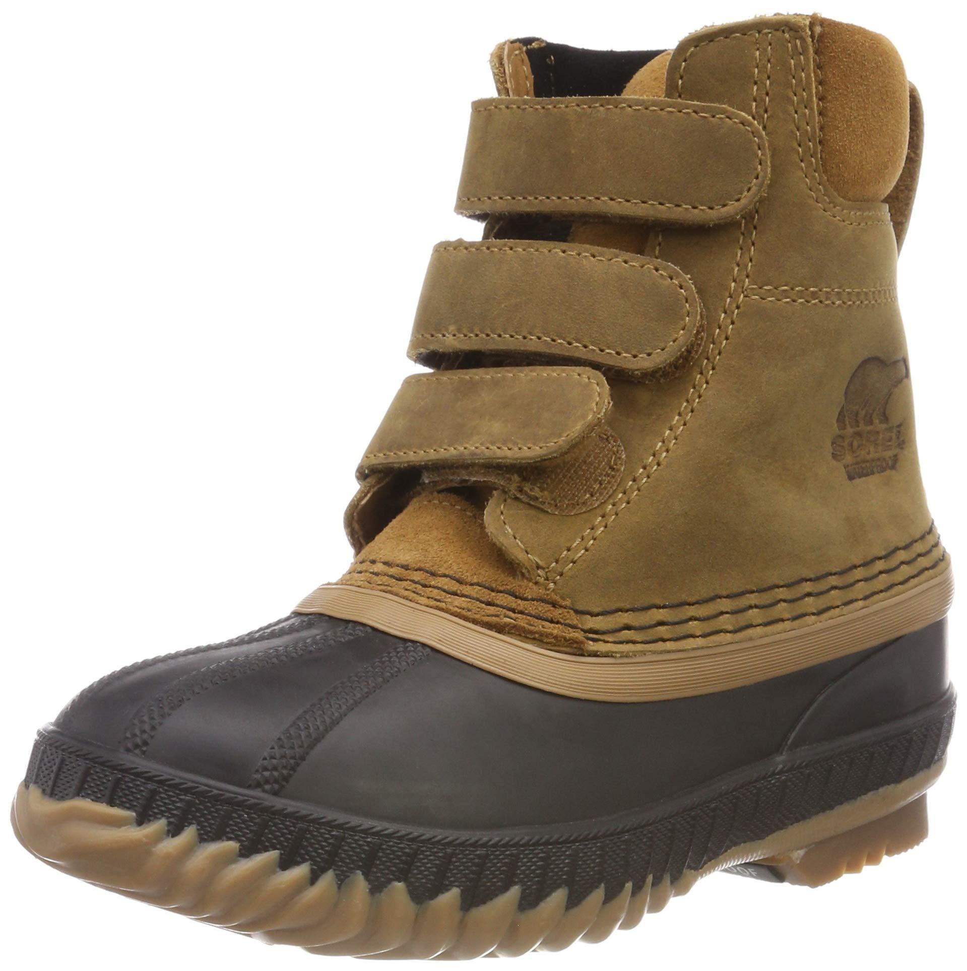 Sorel Boys' Children's Cheyanne II Velcro Snow Boot, elk, Black, 9 M US Little Kid
