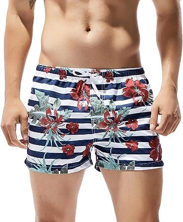 JiaMeng Hombre Bañador Shorts Playa Natacion Pantalon Corto Pantalones Cortos Troncos de natación Secado rápido Playa Surf Correr Natación Corta Agua