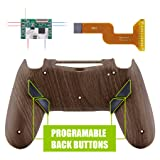 eXtremeRate Dawn Programable Remap Kit for PS4 Controller with Mod Chip & Redesigned Back Shell & 4 Back Buttons - Compatible with JDM-040/050/055 - Wood Grain (Color: Wooden Grain)