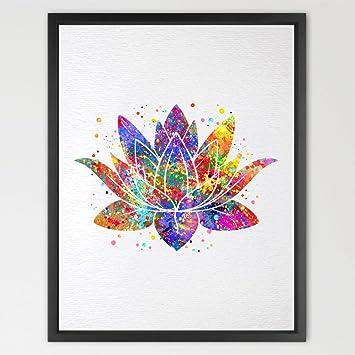 Amazon dignovel studios 8x10 lotus flower yoga symbol dignovel studios 8x10 lotus flower yoga symbol watercolor print illustrations art print wall art poster giclee mightylinksfo