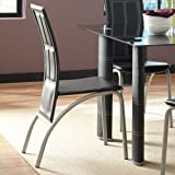 Steve Silver Calvin Side Dining Chair - Set of 4 - Black Upholstery