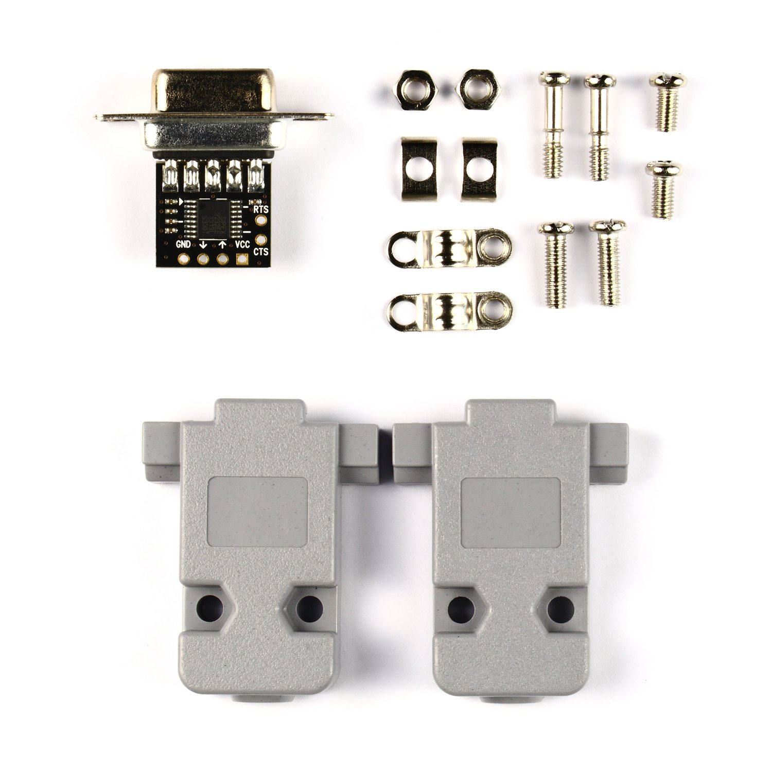 NulSom Inc. Ultra Compact RS232 to TTL Converter with Female DB9 and Hood Kit (3.3V to 5V) by NulSom Inc. (Image #2)
