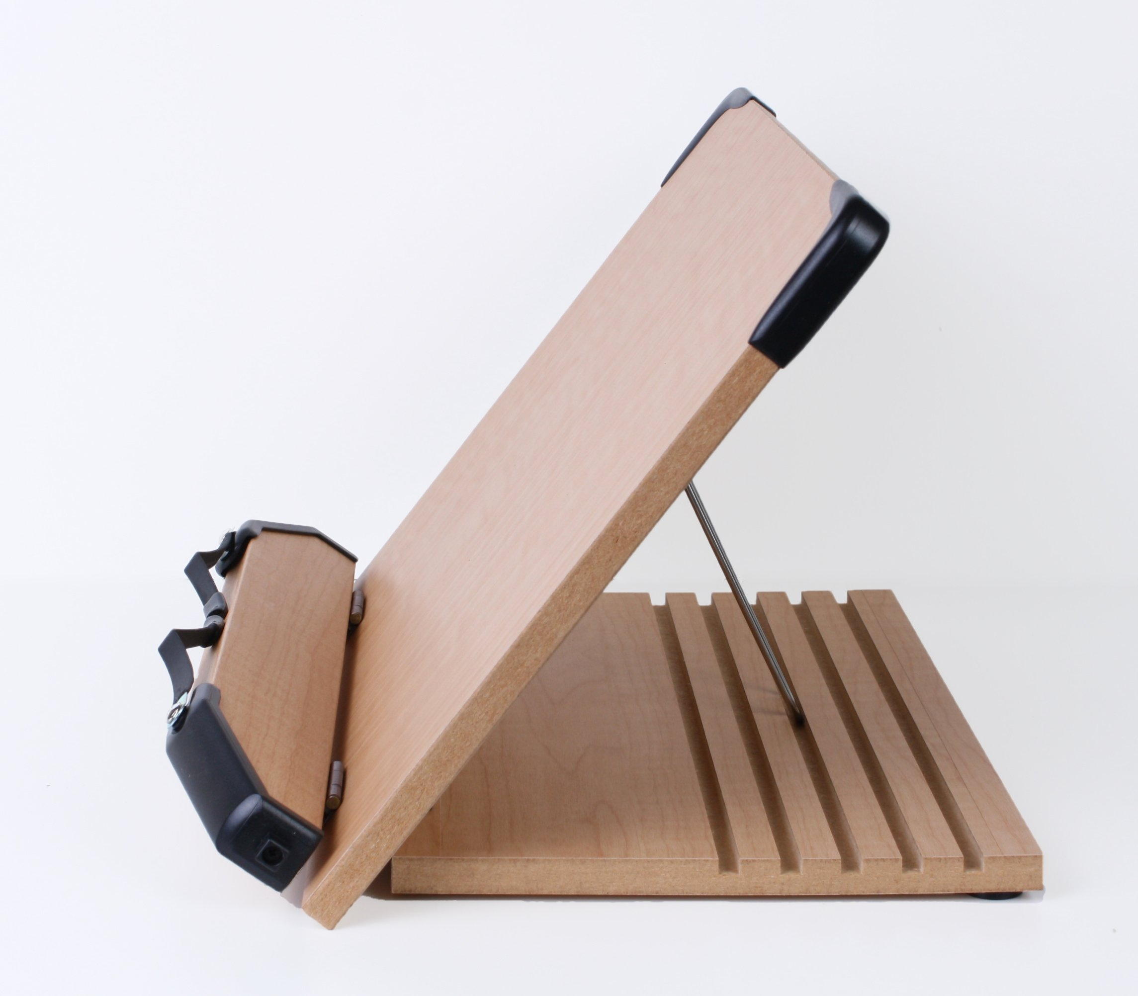 a book stand bs1500 book holder w adjustable foldable tray and