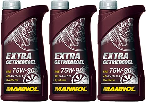 Mannol 3 X 1l 75w 90 Extra Gear Oil Gl 5 Synthetic Manual Transmission Oil Auto