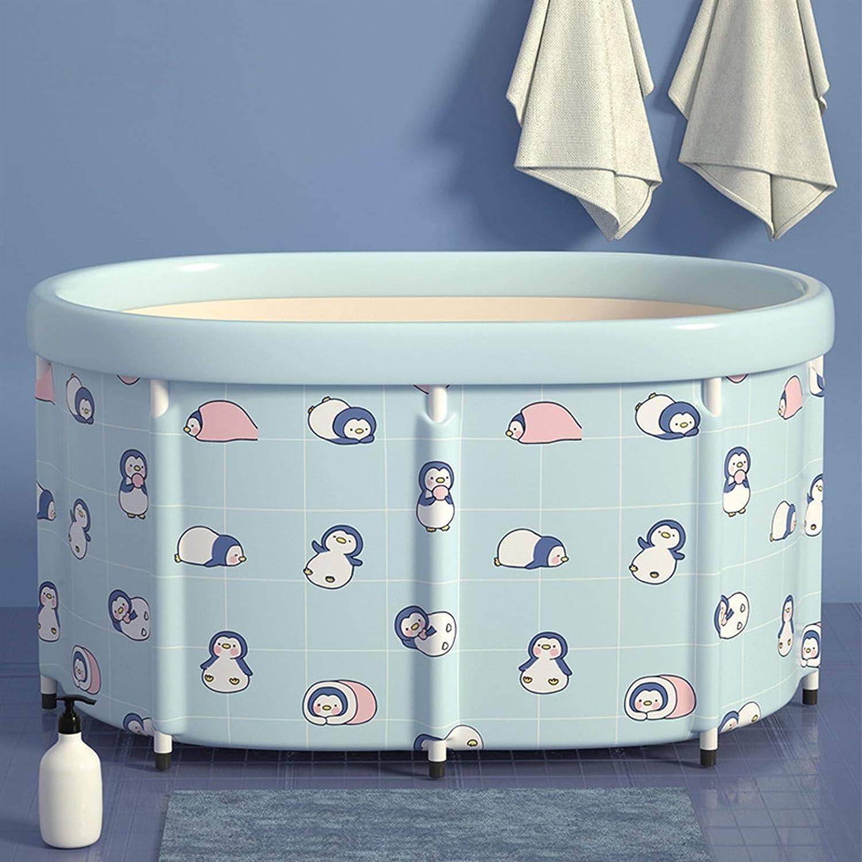 Kunyun Ducha portátil, Cubo de baño para Adultos y niños, bañera de hidromasaje para el hogar, fácil instalación, con cojín de Agua, 2 tamaños, bañera de hidromasaje Simple (Talla : 80 * 56cm)
