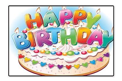 Amazon Anti Static Rugs Cartoon Happy Birthday Party Image Cake