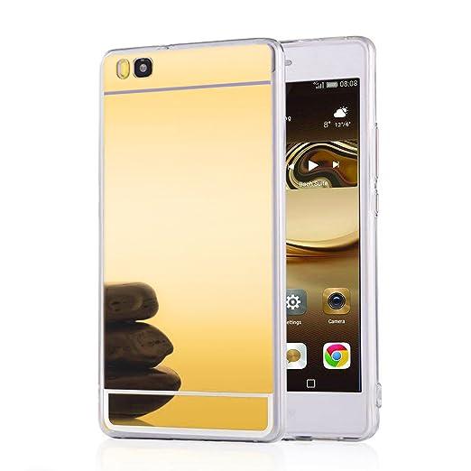 13 opinioni per LIVHÒ | Cover a specchio oro per Huawei P8 lite- Mirror Case- Custodia