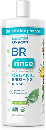 Essential Oxygen BR Certified Organic Brushing Rinse, All Natural Mouthwash for