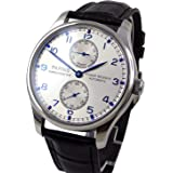 Whatsko White Dial Seagull Movement Power Reserve Portugal Style Automatic Watch PA-0111