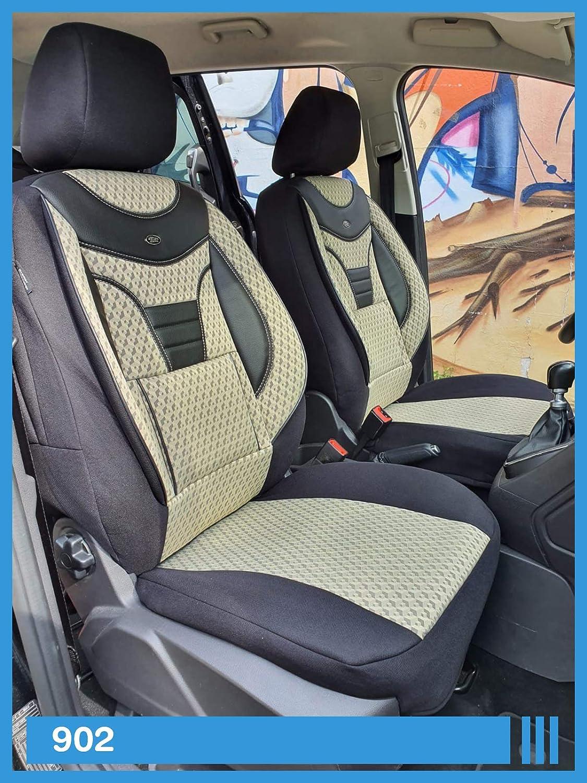 902 Ma/ß Sitzbez/üge kompatibel mit Ford Tourneo//Transit Custom Fahrer /& Beifahrer ab BJ 2012-2018 Farbnummer