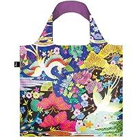 LOQI LQB1-SNDB Shinpei Naito Shopping Bag, Dancing Birds, L Capacity