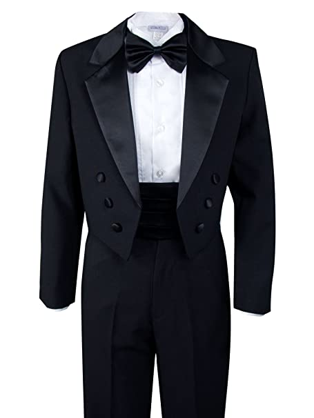 1930s Childrens Fashion: Girls, Boys, Toddler, Baby Costumes Spring Notion Boys Black Classic Tuxedo with Tail $69.95 AT vintagedancer.com