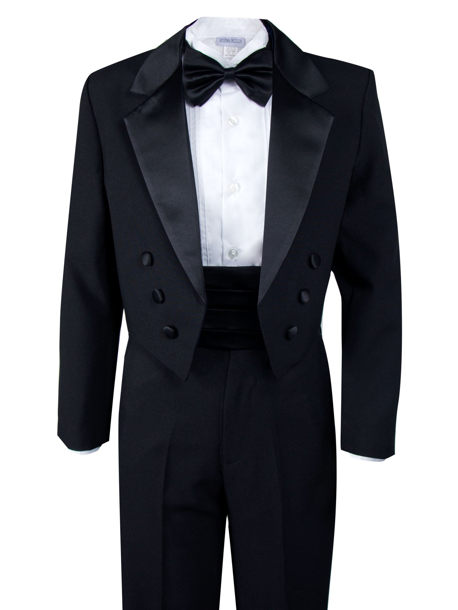 Spring Notion Boys' Black Classic Tuxedo with Tail Extra Large/18-24 Months