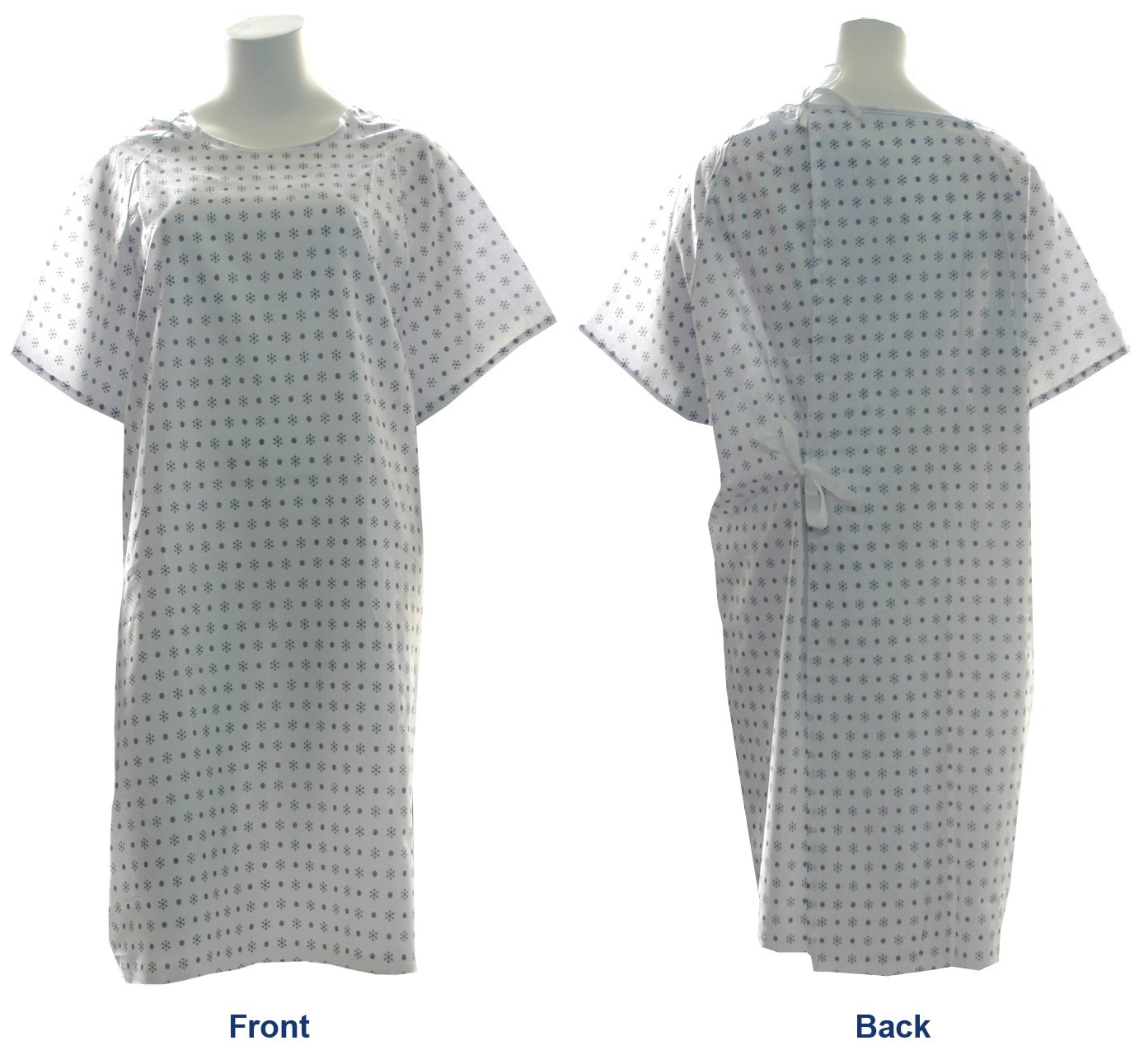 Snowflake Print Hospital Medical Gowns - Pack of 4