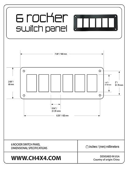 CH4X4 6 Rocker Switch Panel