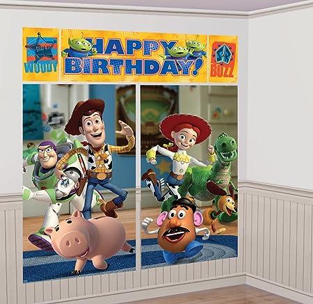 amscan - Decoración de Pared para cumpleaños con diseño de Toy Story 3