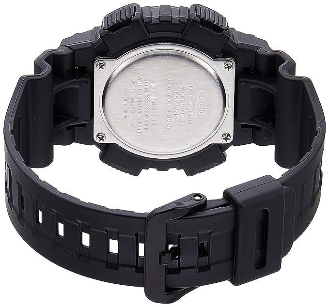 Casio Reloj Analogico-Digital para Hombre de Cuarzo con Correa en Resina AEQ-110W-1AVEF: Amazon.es: Relojes