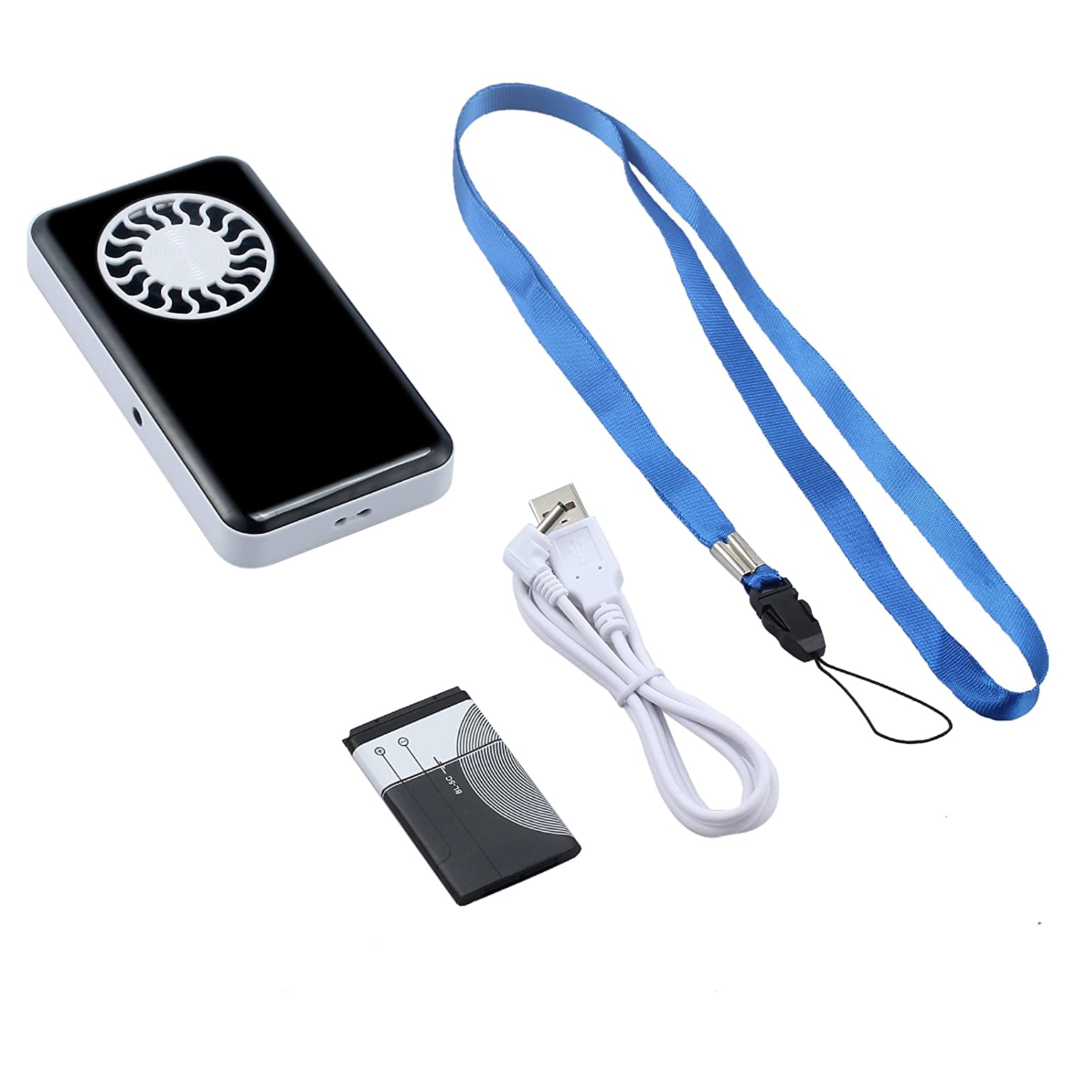 Rechargeable Portable Lithium Battery Operated Personal Summer Pocket Cooling Fan White