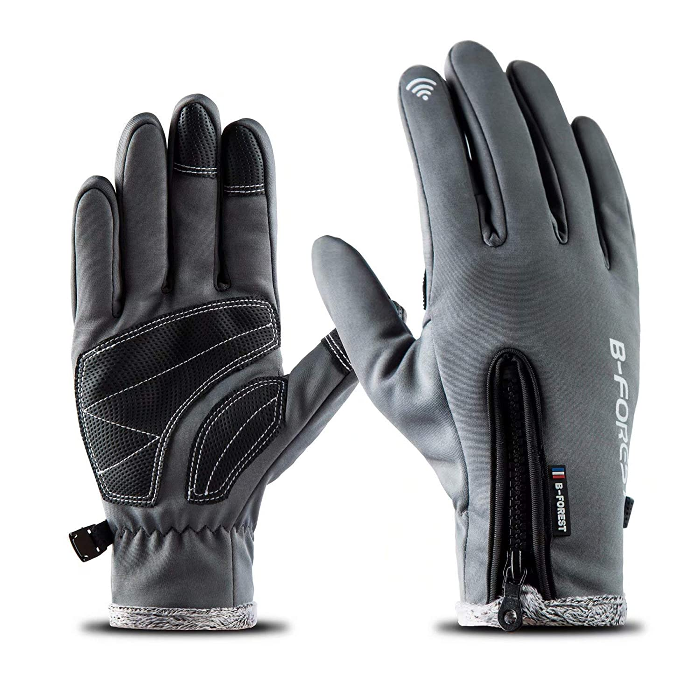 寒い天気 タッチスクリーン手袋 アウトドア 防風 防水 冬用手袋 サイクリング バイク スキー 氷 釣り スノーボード用 Medium  B07HL8KD36