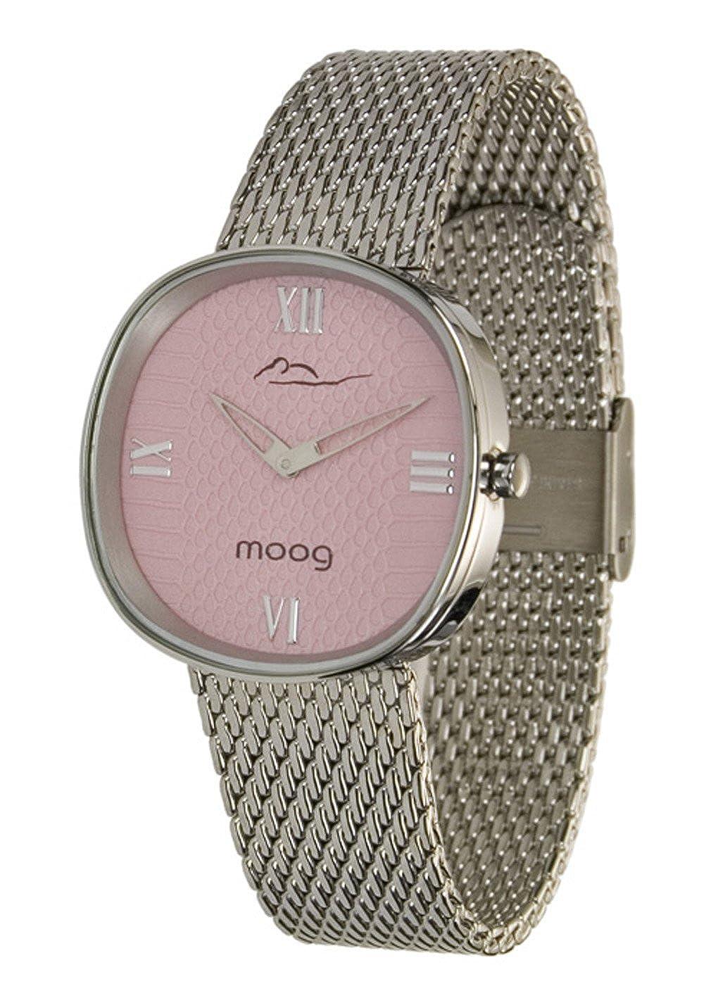 Moog Mujer Reloj Paris Metal para Esfera Rosa con Chic JFTlKc13