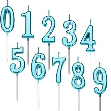 Amazon.com: Yaomiao - Velas numeradas de cumpleaños para ...