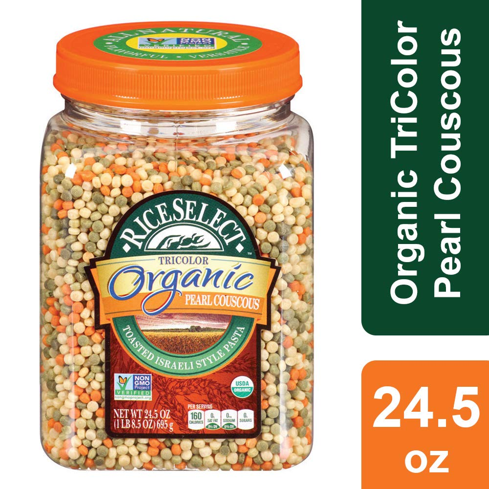 RiceSelect Organic Tri-Color Pearl Couscous, 24.5 Ounce by RiceSelect