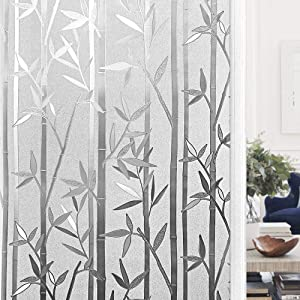"""Finnez Window Film for Privacy and Light Protection Vinyl Sticker Film Creates a Frosted Glass Look Static Cling Perfect for Home and Office (23.6"""" × 78.7"""")"""