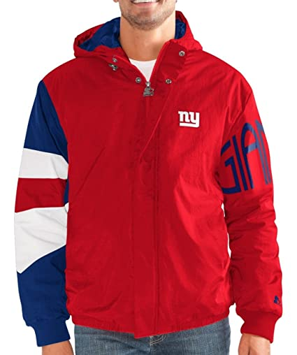 fb313372561 Image Unavailable. Image not available for. Color  STARTER York Giants NFL  Men s Knockdown Full Zip Premium Hooded Jacket