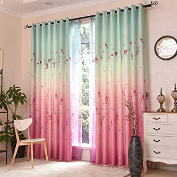 Amazon.com: Wind Princess bedroom curtains/ children\'s room Bay ...