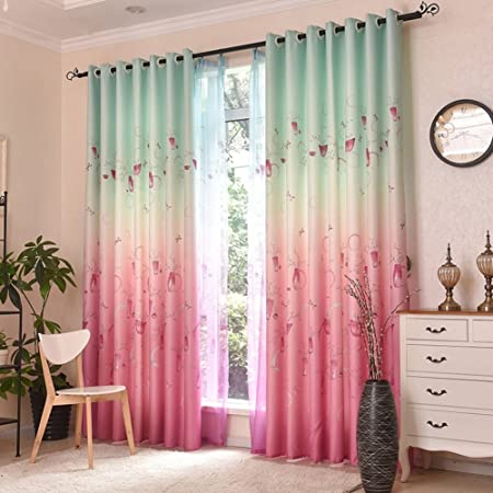 Curtain Wind Princess bedroom curtains children\'s room Bay window ...