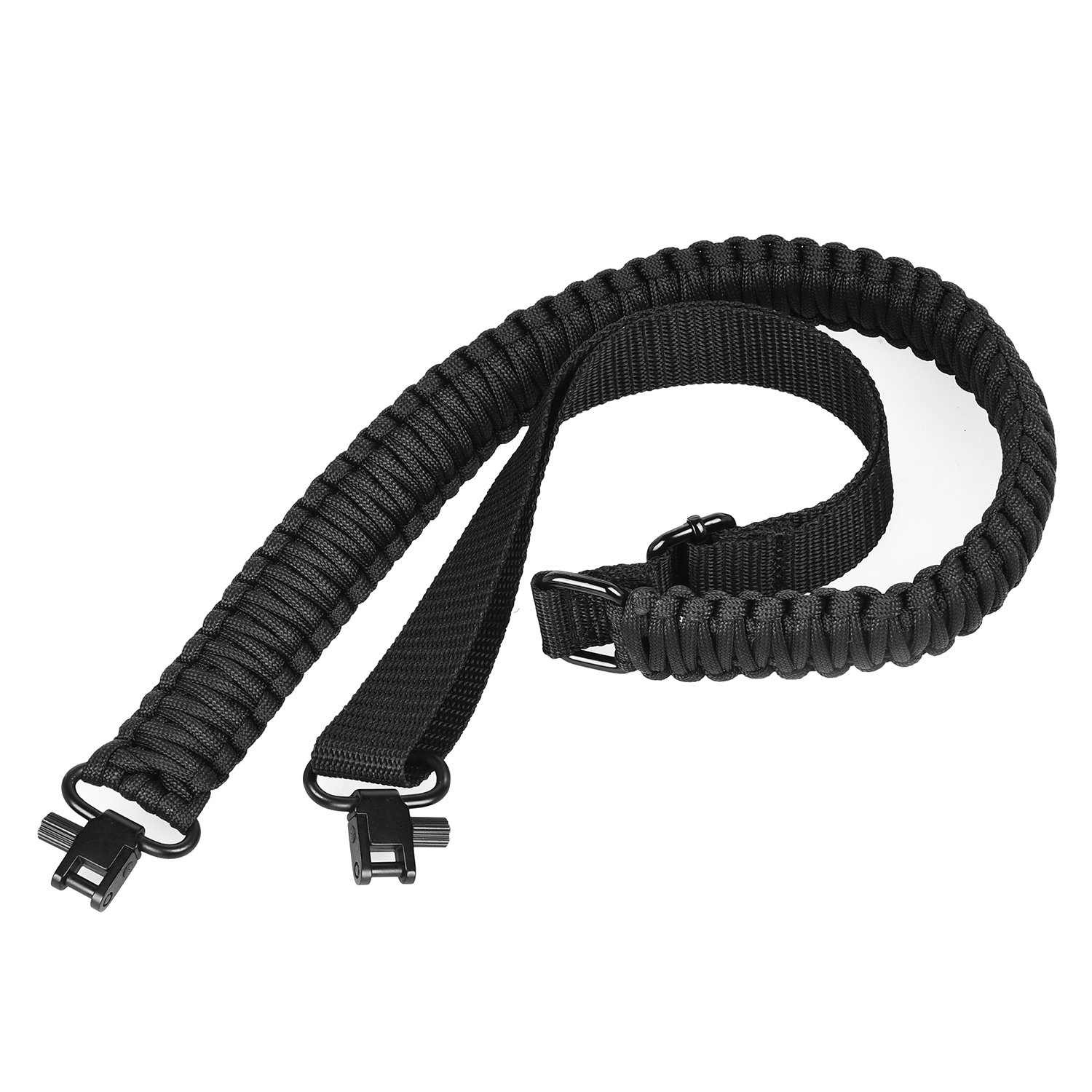 CVLIFE Rifle Sling Paracord 550 Tactical Two Points Gun Sling Adjustable Rope Quick Swivel