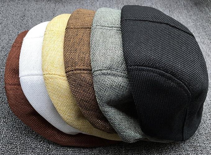 TININNA Uomini e Donne Autunno Moda Confortevole Traspirante Coppola  Cappello di Lino Beret Hat Berretto Brown  Amazon.it  Abbigliamento 0b4e416dbfe6