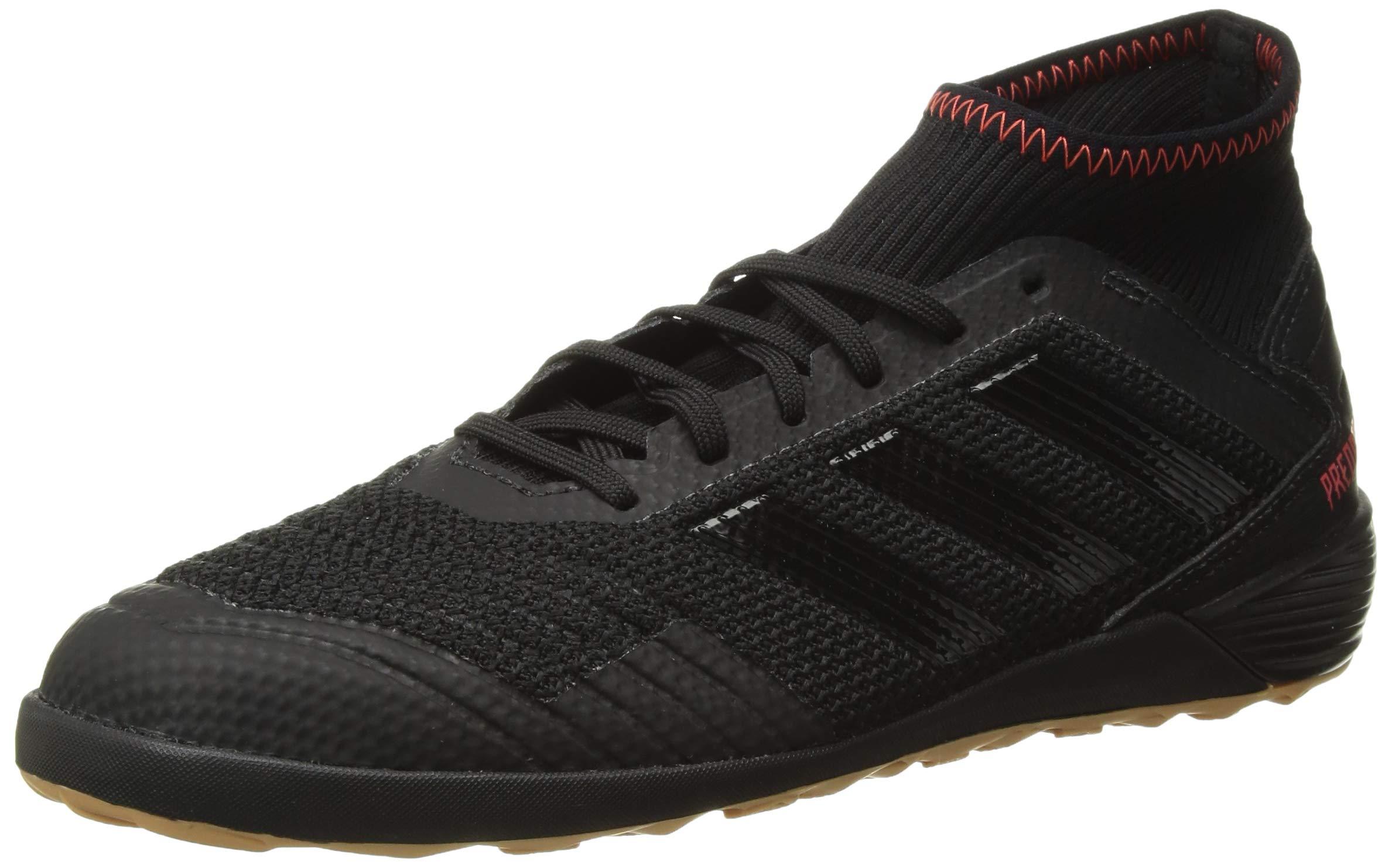 adidas Men's Predator 19.3 Indoor, Black/Active red, 7 M US