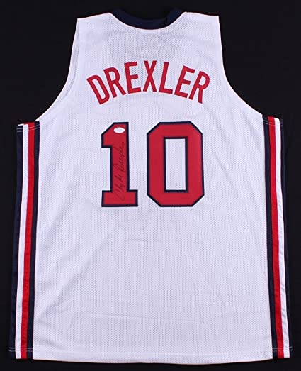 5da3e1da2ec Clyde Drexler Autographed Signed Team Usa Jersey - JSA Certified at  Amazon's Sports Collectibles Store