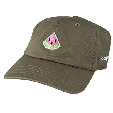 042bd0f589473 CapRobot Emoji 3D Watermelon Unstructured Adjustable Dad Hat Cap ...