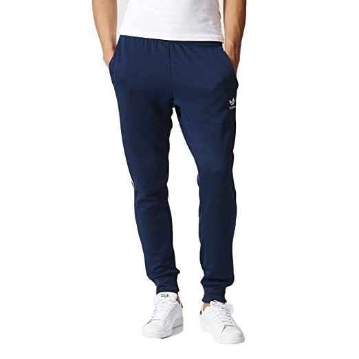 62175fd7518f9 adidas Superstar Cuffed Men's Track Pants Navy Blue/White ab9704