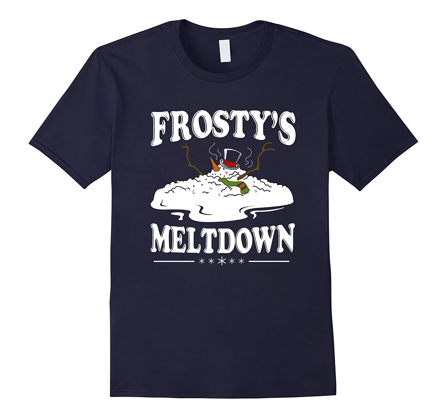 Family Christmas Gifts Melting Snowman T Shirt-RT